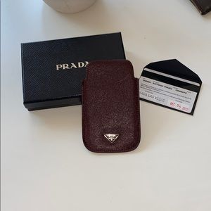 PRADA | Saffiano Travel Sleeve | Color: Granato